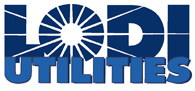 Lodi Utilities logo - links to Home